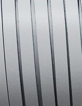 5 mm lapos bőrszál-Fehér 2-1 cm