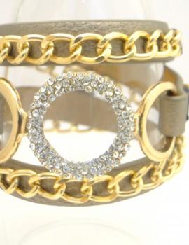 Többsoros láncos - metál arany