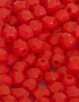 Cseh csiszolt 4mm-Opaque Light Red-40 db