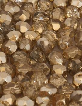 Cseh csiszolt 4 mm-Coated  kristály arany(97387)-40 db
