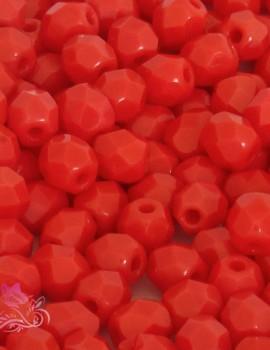 Cseh csiszolt 4mm-Opaque light red(93180)-40 db