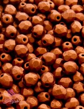 Cseh csiszolt 4mm-Matte Metallic dark Copper-40 db