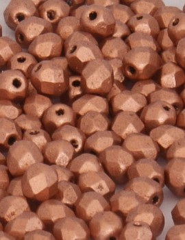 Cseh csiszolt 4 mm-Matte Metallic Copper-40 db