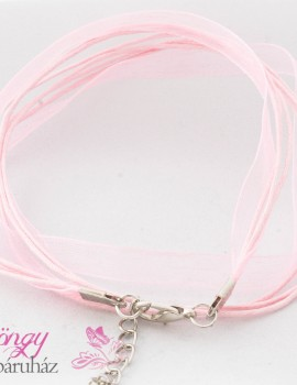 Organza nyakláncalap-Rózsaszín