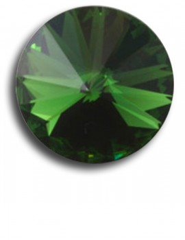 Swarovski rivoli 8 mm-Dark Moss Green-1 db