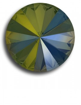 Swarovski rivoli 8 mm-Crystal Iridescent Green-1 db