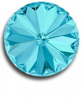 Swarovski rivoli 8 mm-Aquamarine-1 db