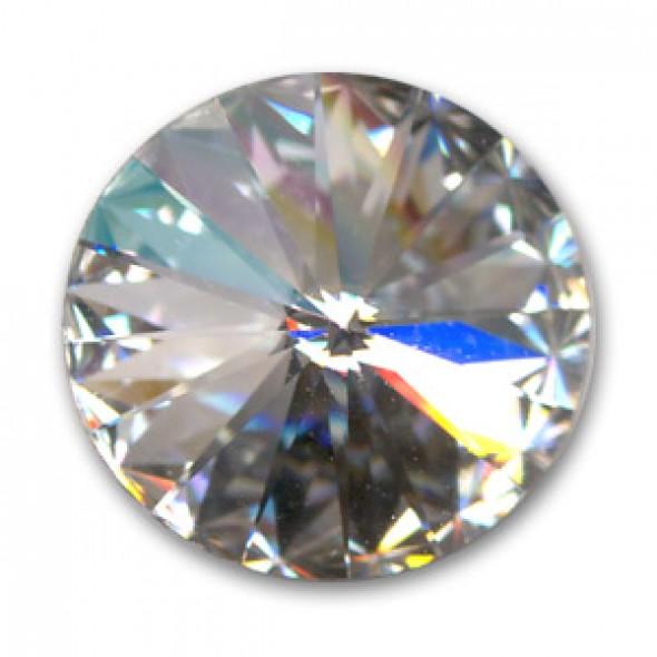 Swarovski rivoli 8 mm- Crystal - 1 db