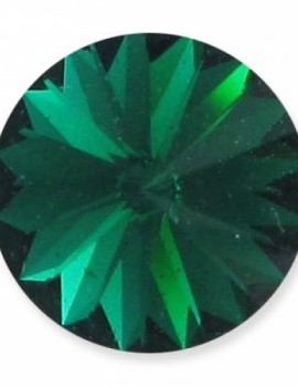 Swarovski rivoli 8 mm-Emerald-1 db