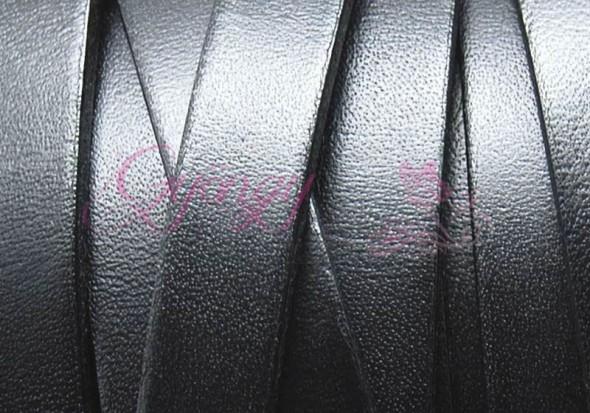 10x1,5 mm bőrszál-fekete-1 cm