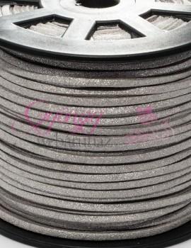 Hasított bőrszál-3 mm-Ezüst