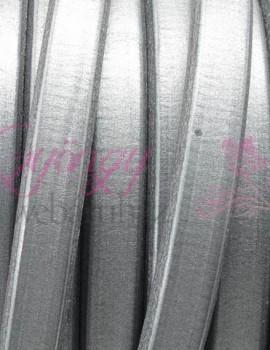 Ovális bőr 10x6 mm-Metál sötét ezüst-1 cm