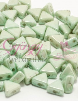 Kheops par Puca 6 mm-Op.Light Green Ceramic Look-10 gr