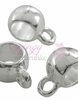 Sima gömbölyű medálakasztó-ezüst-5 db