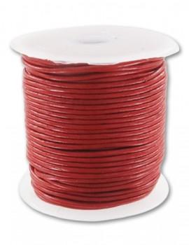 3 mm bőrszál-Piros-10 cm
