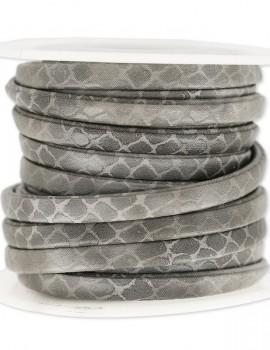5 mm műbőr kígyó-szürke-10 cm