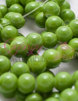Ásvány utánzatú üveggyöngy 6 mm-20 db-Világos olivin