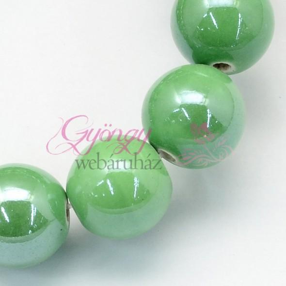 8 mm porcelán-közép tengerzöld-5 db