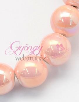 8 mm porcelán-világos rózsaszín AB-5 db