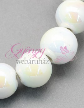 8 mm porcelán-fehér ab-5 db