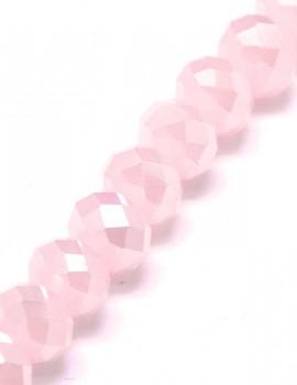 Csiszolt fánk-Gyöngyház Rózsaszín-10 db