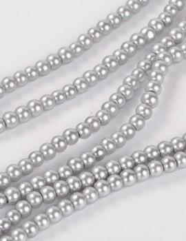 4 mm tekla-sötét ezüst-50 db