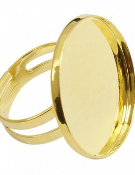 25 mm gyűrűalap-arany-1 db