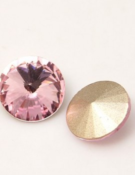 18 mm rivoli-Rózsaszín-1 db