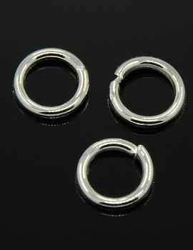 8 mm szimpla karika-ezüst-5 db