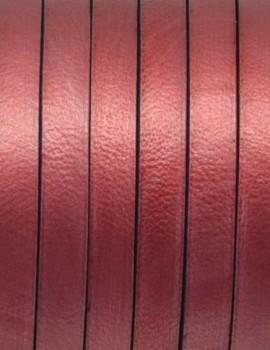 5x1,5 mm bőr-metál piros-1 cm