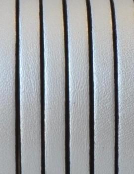 5x1,5 mm bőr-metal silver-1 cm