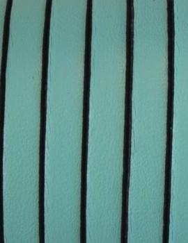 5x1,5 mm bőr-Türkizzöld-1 cm