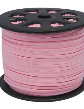 3 mm hasított bőrszál-rózsaszín-1 m