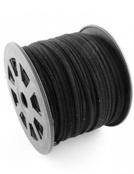 Hasított bőrszál- 3mm-fekete