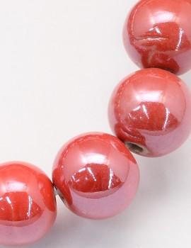 8 mm porcelán -Piros-5 db