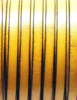 5x1,5 mm bőr-Citromsárga-1 cm