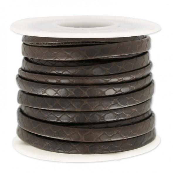 5 mm műbőr kígyó-Barna-10 cm