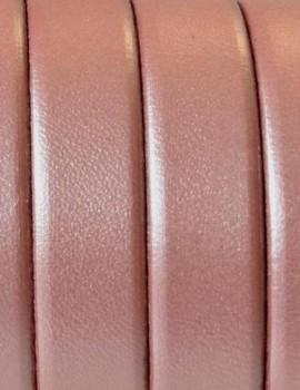 10 mm lapos bőrszál metál lazac-1 cm