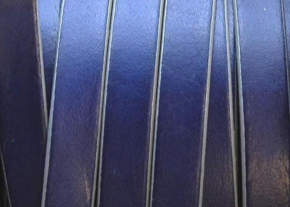 10 mm lapos bőrszál-sötétkék-1 cm