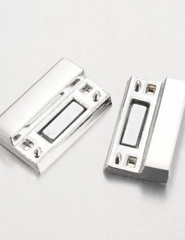 Nagy téglalap kapocs-ezüst-1 db
