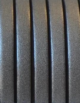5 x15 mm bőr-stét metál ezst-1 cm
