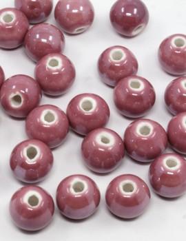 10 mm Porcelán-Vörös-5 db