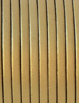 3 mm lapos bőr-Arany-1 cm