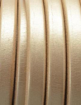 Ovális bőr 10 x 6 mm-Metál arany-1 cm