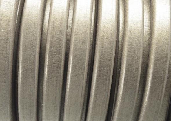 Ovális bőr 10 x 6 mm-Metál antik arany-1 cm