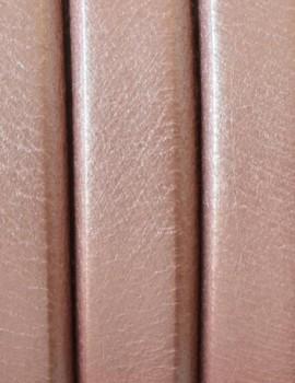 Ovális bőr 10 x 6 mm-Metál lazac-1 cm