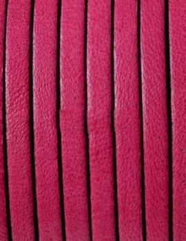 3 mm lapos bőr-Fukszia-1 cm