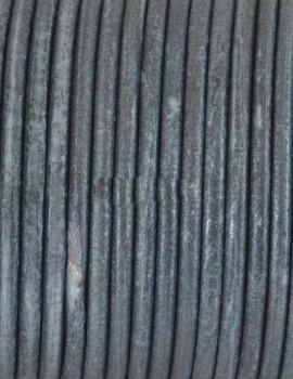 2,5 mm bőrszál-Metál ezüst-10 cm