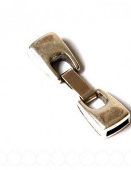 Kicsi (10mm) beakasztós kapocs-ezüst-1 db