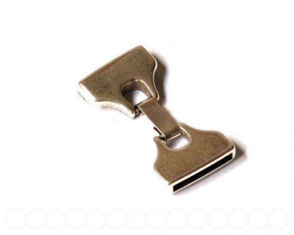Nagy (23mm)beakasztós kapocs-ezüst-1 db